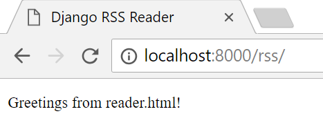 Render the RSS feed